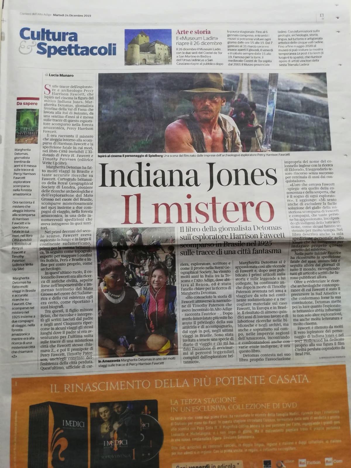 Corriere dell'Alto Adige, 24/12/2019